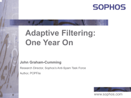 October 2003: Adaptive Filtering: One Year On (conference)