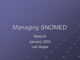 Mapping to SNOMED