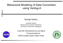 Behavioral Modeling of ADC using Verilog-A