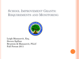 School Improvement Grants, Sec. 1003(g)