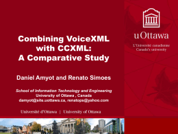 Combining VoiceXML with CCXML