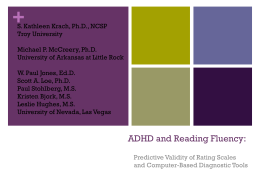 ADHD and Reading Fluency: - Troy University Spectrum