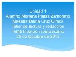 Alumno Mariana Platas Zamorano Maestra Diana Cruz …