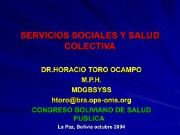 SERVICIOS SOCIALES Y SALUD COLECTIVA