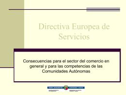 Directiva Europea de Servicios