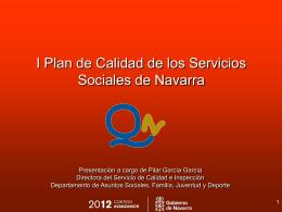 I Plan de Calidad de los Servicios Sociales de Navarra
