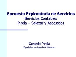 Encuesta Exploratoria de Servios Servicios Contables