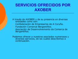 SERVICIOS OFRECIDOS POLA CEC