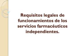 Requisitos legales de funcionamientos de los servicios