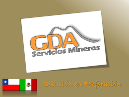 GDA SERVICIOS MINEROS - GDA Servicios Mineros