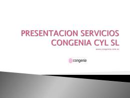 PRESENTACION SERVICIOS CONGENIA CYL SL