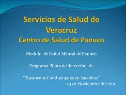 Servicios de Salud de Veracruz Centro de Salud de Panuco