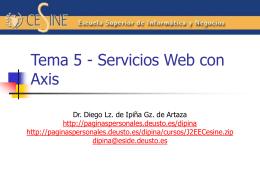 Tema 5 - Servicios Web