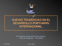 Efectos del Desarrollo en Buques, Servicios y Puertos.