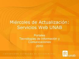 Servicios Web UNAB
