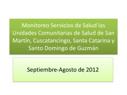 Monitoreo Servicios de Salud