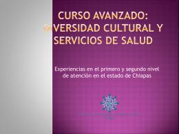 Curso avanzado: Diversidad cultural y servicios de salud