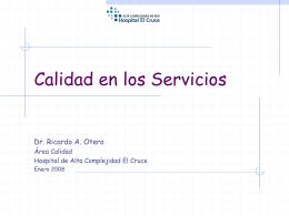 Calidad en los Servicios