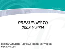 COMPARATIVO DE NORMAS SOBRE SERVICIOS …