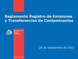 Reglamento Registro de Emisiones y Transferencias de