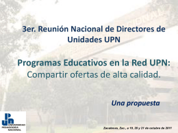 Registro de programas educativos