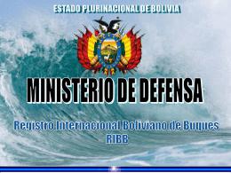 TITULO - Ministerio de Defensa del Estado Plurinacional de