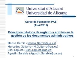 Servicio de Archivo y Registro
