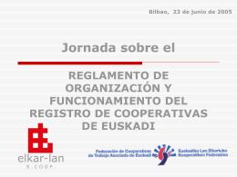 REGLAMENTO REGISTRO DE COOPERATIVAS - Elkar-Lan
