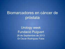 Biomarkers in Prostate Cancer