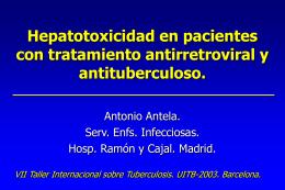 Hepatotoxicidad en pacientes con tratamiento