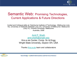 Semantic Web: Promising Technologies, Current …
