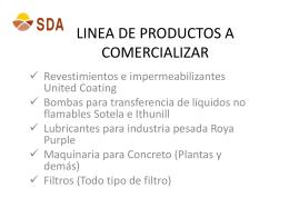 LINEA DE PRODUCTOS A COMERCIALIZAR