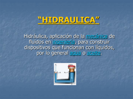 """HIDRAULICA"""""""