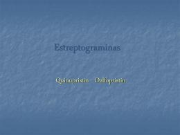 Estreptograminas - Instituto de Higiene