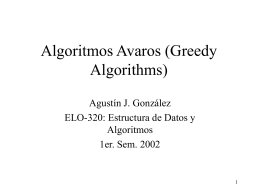 Algoritmos Avaros (Greedy Algorithms)