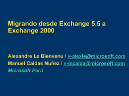 Deploying Exchange 2000