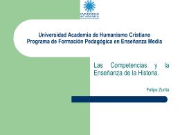 Universidad Academia de Humanismo Cristiano Programa …