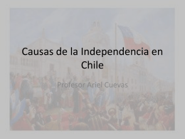 Causas de la Independencia en Chile