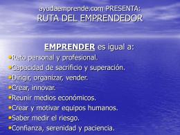 RUTA DEL EMPRENDEDOR
