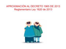 DECRETO 1965 DE 2013 - Bienvenido al informativo virtual