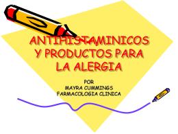 ANTIHISTAMINICOS Y PRODUCTOS PARA LA ALERGIA