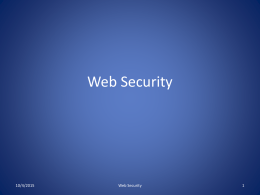 Web Security - University of Tennessee at Chattanooga