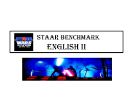 STAAR BENCHMARK English II