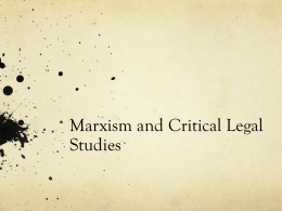 Economic Analysis of Law, Critical Legal Studies and Marxism