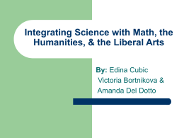 Integrated Curriculum & Integrating Science with Math