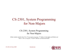 CS-2301, System Programming for Non