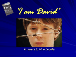 I am David'