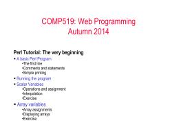 COMP519: Web Programming Fall 2005