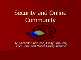 Security and Online Community
