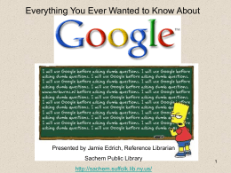 Internet Search - Suffolk Cooperative Library System